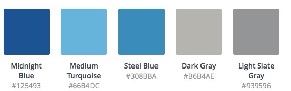 Color palette from nature: Mediterranean blues